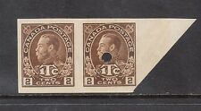 Canada #MR4b VF Mint Imperf Pair Variety With Security Punch On Right Stamp