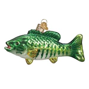 034-Smallmouth-Bass-034-12522-X-Old-World-Christmas-Glass-Ornament-w-OWC-Box