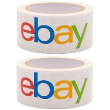 2 Rolls Ebay Brand Logo Packing Packaging Shipping Tape Bopp 2x75 Yard