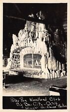 RP Postcard Interior Peter Pan Woodland Club in Big Bear City, California~111533