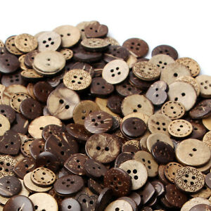 50pcs-Mixed-Brown-Coconut-Shell-2-4-Holes-Buttons-Sewing-Scrapbooking-18mm-2020