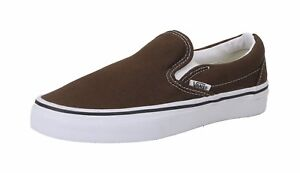 47e56aed85 Vans Unisex Women Men Shoes Classic Slip On Espresso Chocolate Brown ...