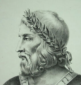 Antique-Print-Louis-I-Pius-Debonair-Emperor-of-the-West-Son-of-Charlemagne