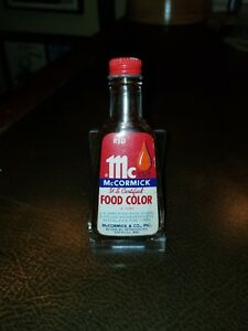 Details about Vintage Small McCormick Red Food Coloring Bottle 1940s 1/2 oz  BALTIMORE SAN FRAN