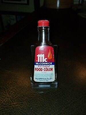 Vintage Small McCormick Red Food Coloring Bottle 1940s 1/2 oz BALTIMORE SAN  FRAN   eBay