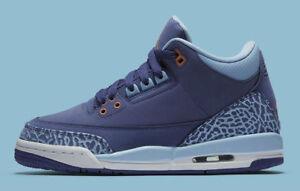 big sale 3f286 7f2cf Details about Nike Air Jordan 3 III Purple Dust Blue Cement Elephant White  Atomic Pink sz 9.5