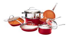 Gotham Steel Nonstick 12 Piece Red Cookware Set - BRAND NEW