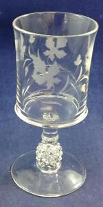 US-Glass-PAVONIA-Engraved-Water-Goblet-GREAT-CONDITION