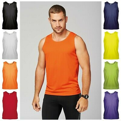 Mens Running Training Gym Sports Vest Breathable Sleeveless Singlet Tank Top