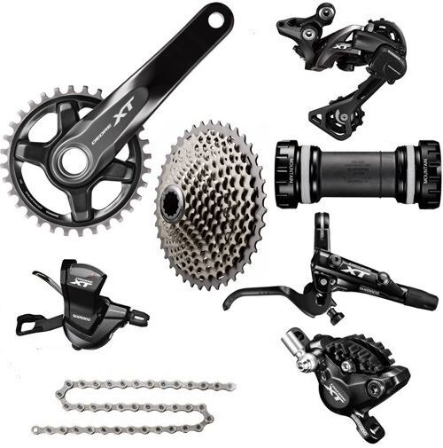 SHIMANO XT M8000 1x11 Speed MTB Groupset 11-46T W Brake Set Ice-Tech Fin 7 Pcs