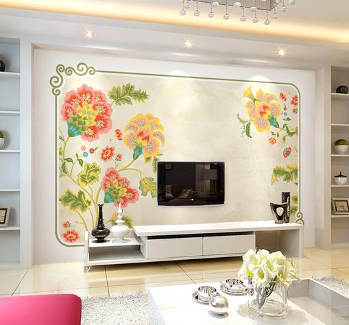 3D Festive Flowers 850 Wall Paper Murals Wall Print Wall Wallpaper Mural AU Kyra
