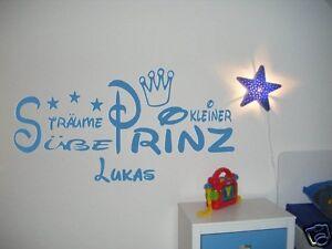 Das Bild Wird Geladen Wandtattoo Kinderzimmer  Kind Baby Suesse Traeume Kleiner Prinz