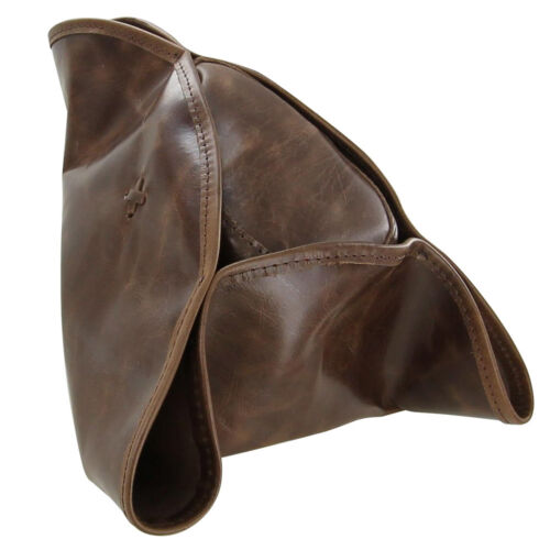 Pirate Tricorn Colonial Genuine Leather Theatre Stage Brown Costume Hat