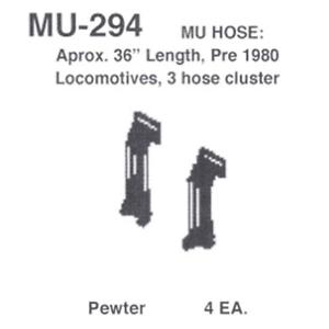 """Details West MU-294 MU Hose: Aprox 36/"""" Length Pre 1980 HO Scale"""
