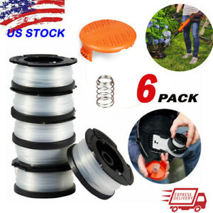 6-Pack-BLACK-DECKER-AF-100-3ZP-30ft-065-034-Grass-String-Trimmer-Replacement-Spool