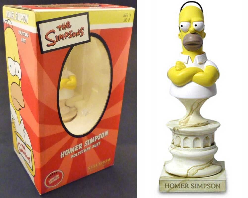 Sideshow THE SIMPSONS polystone mini bust HOMER statue boxed  773/5000