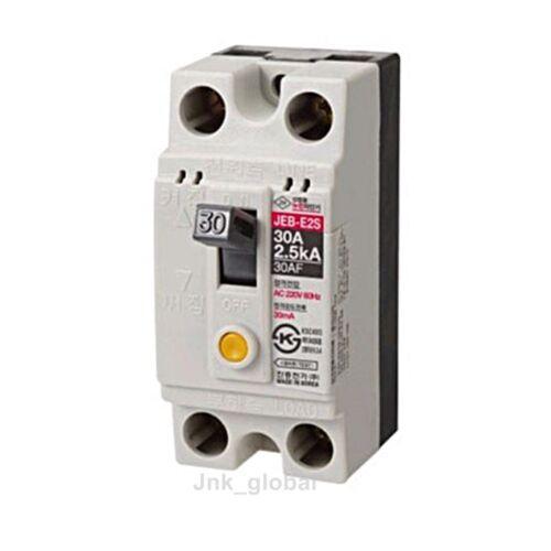 Korean Earth Leakage Circuit Breaker JEB-E2S AC 220V 30A 2P 2E