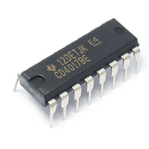 20PCS CD4017 CD4017BE 4017 Decade Counter Decimal Counter IC DIP-16 ASS