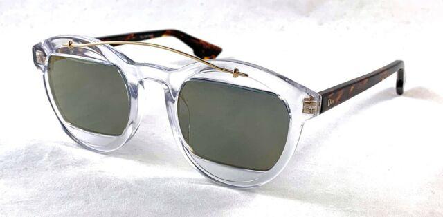 8b23614a5 Christian Dior Mania 1 LWP/JO Clear/Havana Sunglasses w/Grey Gold Mirror