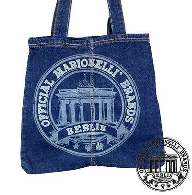 22. BERLIN BRANDS Jeans Denim Tote Bag Marionelli Tasche Beutel Stofftasche