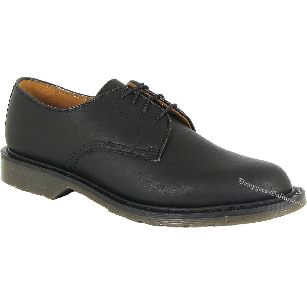 Dr. Martens Octavius Greasy 15687001 Schwarz Schwarz Schwarz Leder Black Docs Schuhe Air Wair ee5168