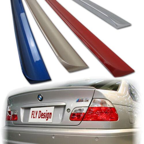 Per BMW e46 3er tuning nuovo spoiler posteriore baule Spoiler Labbro Grigio Argento a08