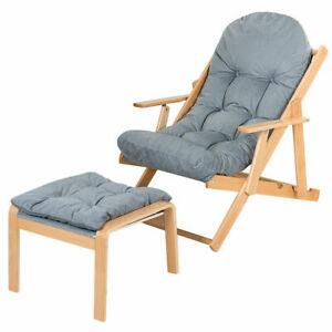 Folding Reclining Deck Chair Adjule