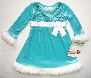 populäres Design Volumen groß Infos für Details zu Festtagskleid türkis NEU Gr. 92-110 Schleife Kleid  Weihnachtskleid Blumenmädchen