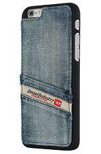Diesel Pluton Pocket Moulded Snap Case for iPhone 6+ 6s+ Plus Indigo Blue Denim