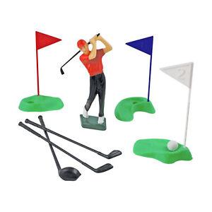 PME-Golf-Set-Cake-Topper-Decoration-Golfer-Player-Holes-Greens-Flags-Clubs-Balls
