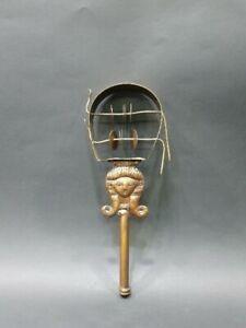Hathor Copper Sistrum (Musical Instrument) Replica from her Original Collection