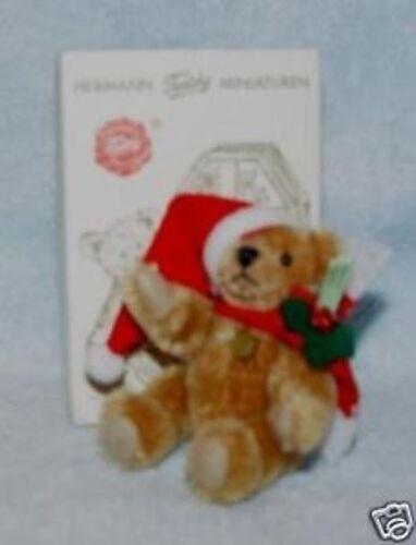 HERMANN TEDDY ORIGINAL MINIATURE CINNAMON CHRISTMAS