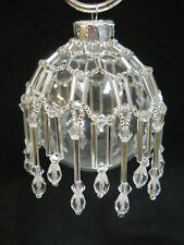 """PATTERN ONLY Beaded Christmas Ornament Cover Holiday Original """"Northern Ice"""""""