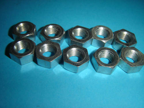 """TRIUMPH BSA 3//8/"""" CEI NUTS 26 TPI PACK OF TEN UK MADE NEW BZP"""