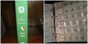 Album-Raccoglitore-con-Fogli-per-monete-Lira-Eco-1946-2001-art-158-MASTERPHIL