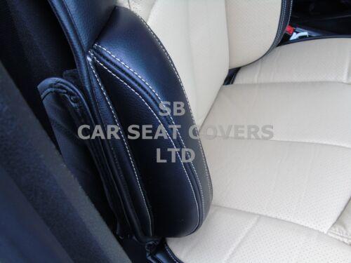 TO FIT A MINI COOPER i YS01 RECARO CAR SEAT COVERS CREAM//BLACK