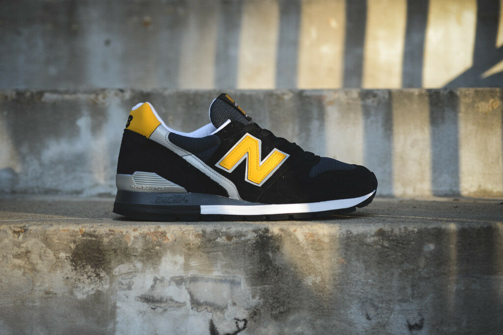 NEW IN BOX  Mens New Balance NB 996 M996CSMI Made in USA CASUAL SHOES Black 6-12