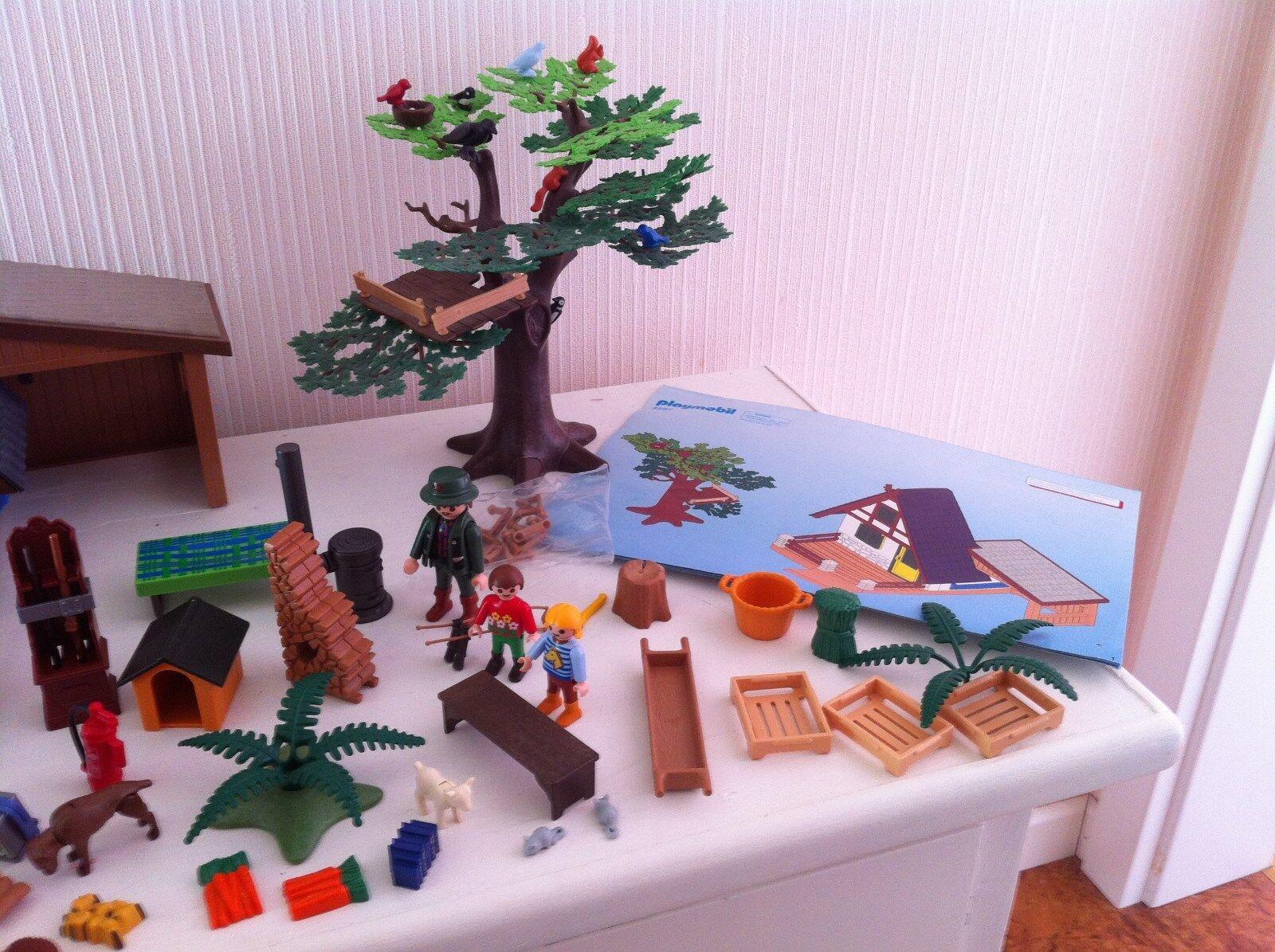Playmobil Forsthaus mit mit Forsthaus Tierpflegestation 4207 -Top Zustand aad40f