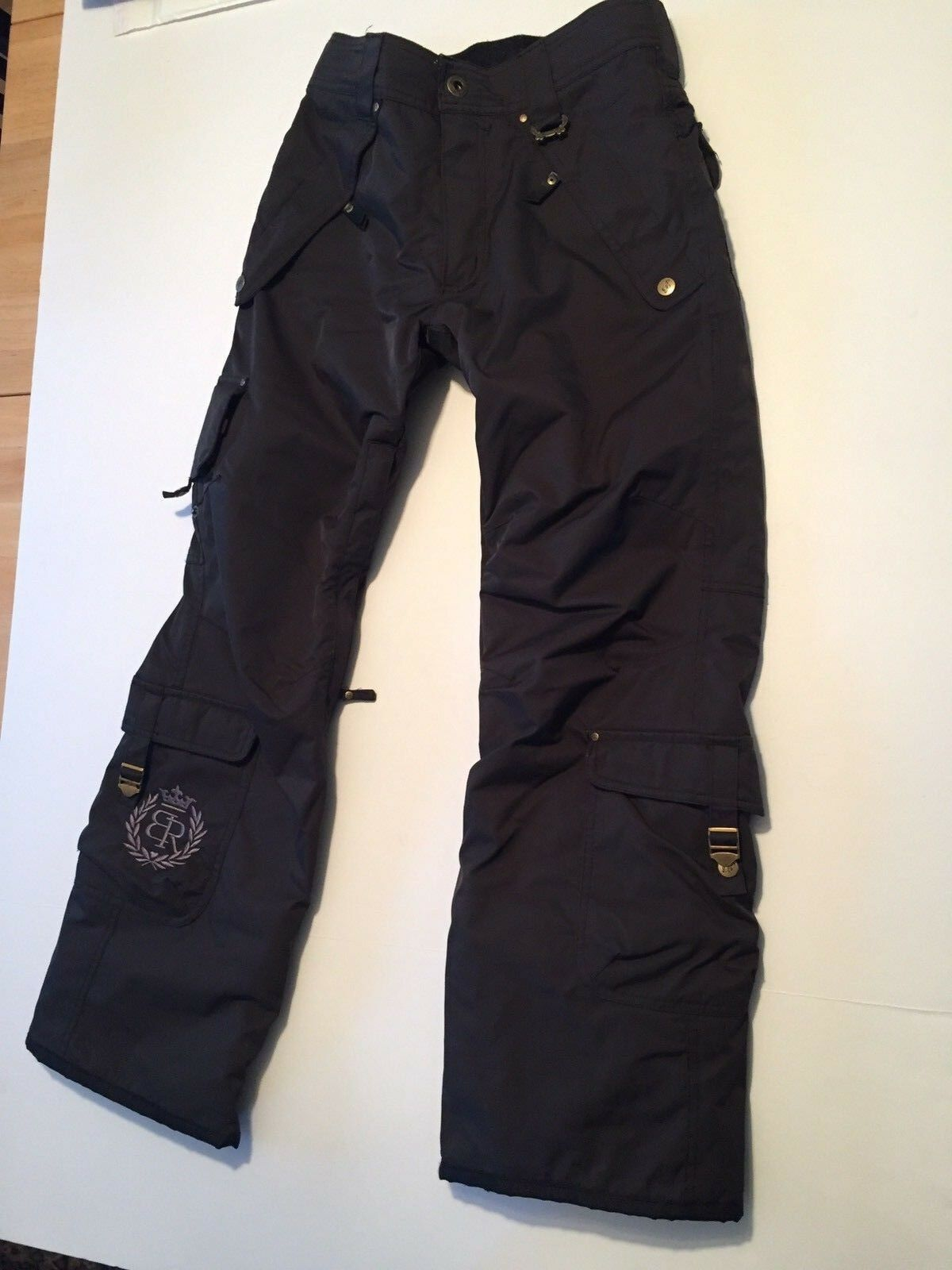 Betty Rides Dynasty Series Snowboard Snow Ski Pants Dark Brown Women's X Small