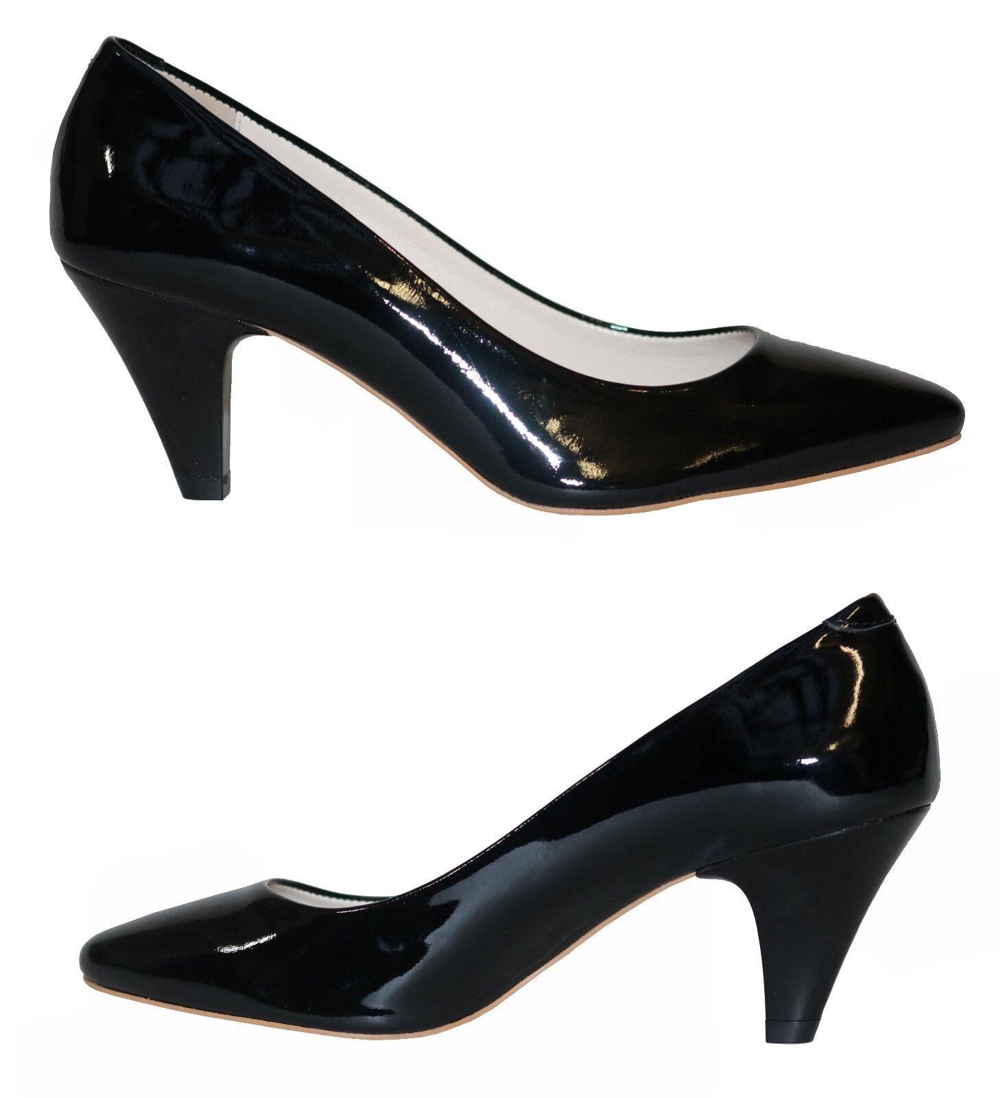Damen Schuhe Pumps Elegant Gr.38 Schwarz