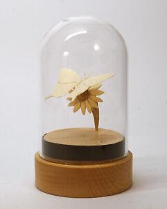 """Miniaturskulptur """"Schmetterling auf Blume""""  Mammut Stoßzahn, ca. 55 x 60 x 45mm"""
