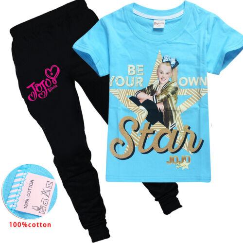 Kids Cartoon  jojo siwa Cotton Tshirt Tees Leggings Pants Girls Cosplay Costume