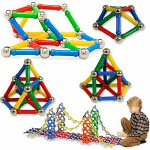 107-Teile-Blocks-Magnetic-Building-Spielzeug-Magnetische-Bausteine-Bloecke-K-H9Z5