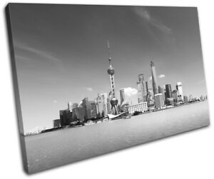 Shanghai-China-Asia-Skyline-City-SINGLE-CANVAS-WALL-ART-Picture-Print
