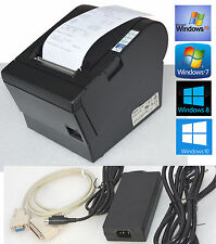 USB KASSENDRUCKER EPSON TM-T88III RS-232 SCHWARZ BLACK FÜR WIND XP 7 8 10 #88-13