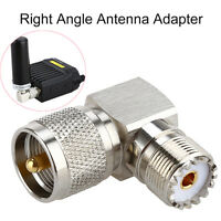 UHF PL259 Male PL -259 to SO239 Female SO -239 Right Angle 90° Elbow RF Adapter
