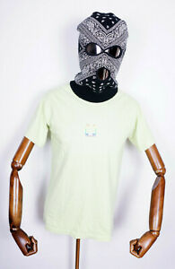 Wknd Skateboards T-Shirt Tee Shirt Rainbow Logo Pigment Dye Celery in XL