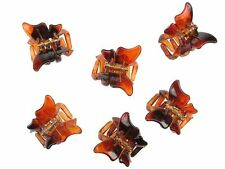 6 Tort Brown Mini Butterfly Hair Claw Clips Clamps Hair Accessories UK