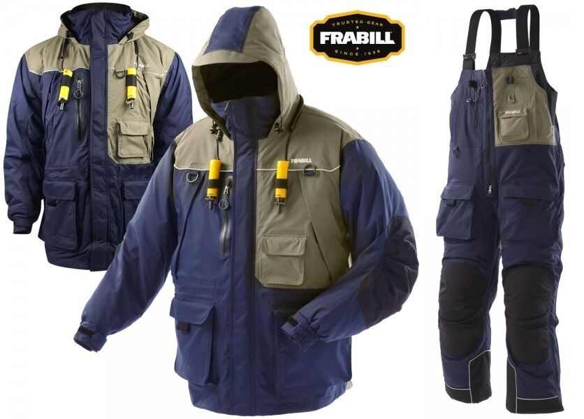 Frabill i4 series ice fishing suit jacket bibs combo for Ice fishing bibs and jacket