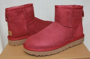 bcd0fbcc492 UGG Women's Classic Mini II 2 Garnet Red Suede boots New With Box ...